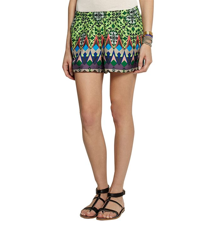 J.Crew Gemstone Floral Print Silk Shorts