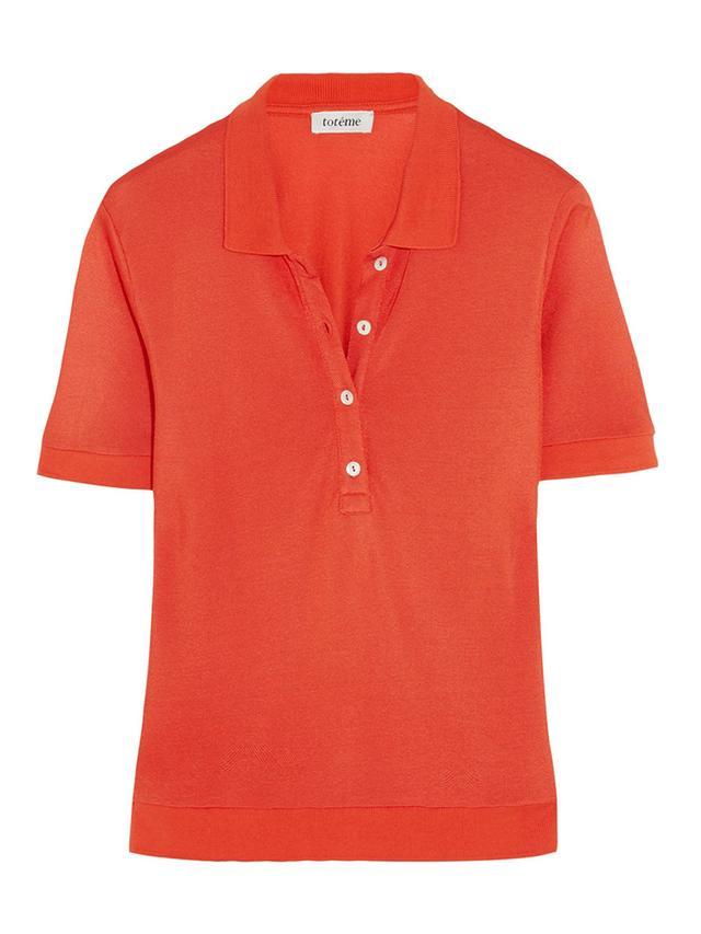 Toteme Kensington Pique Polo Shirt