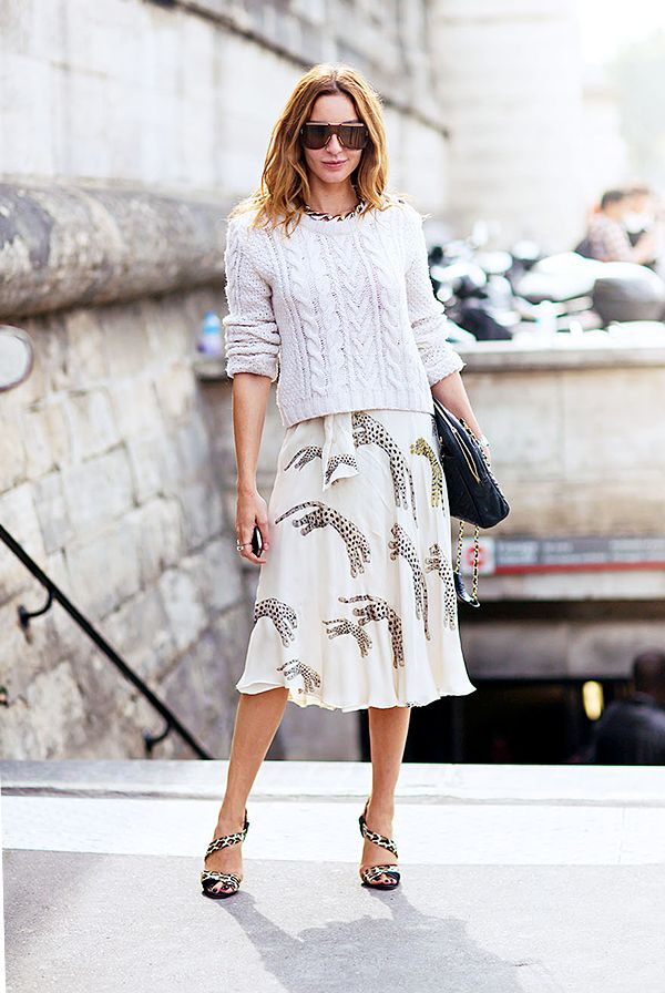 Light-Colored Skirt