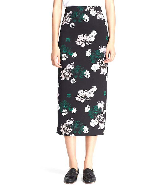 A.L.C. Winter Floral Bell Print Skirt