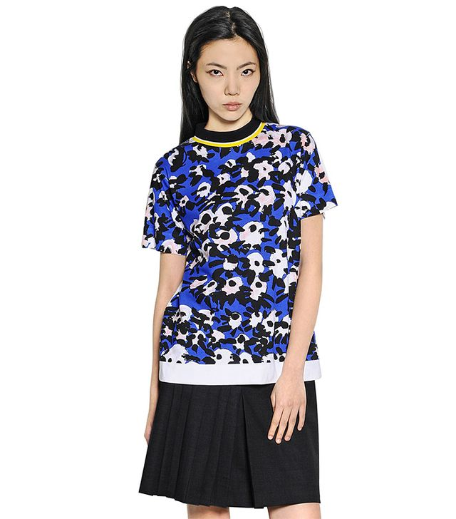 Marni Floral Printed Cotton Jersey T-Shirt