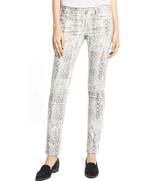 The Kooples Skinny Python Print Jeans