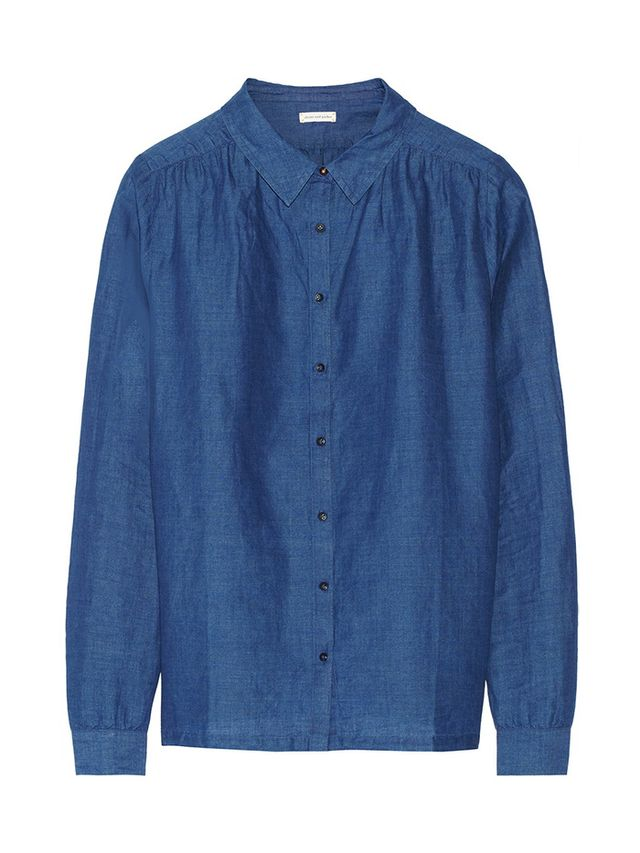 Chinti And Parker Linen And Cotton-Blend Chambray Shirt