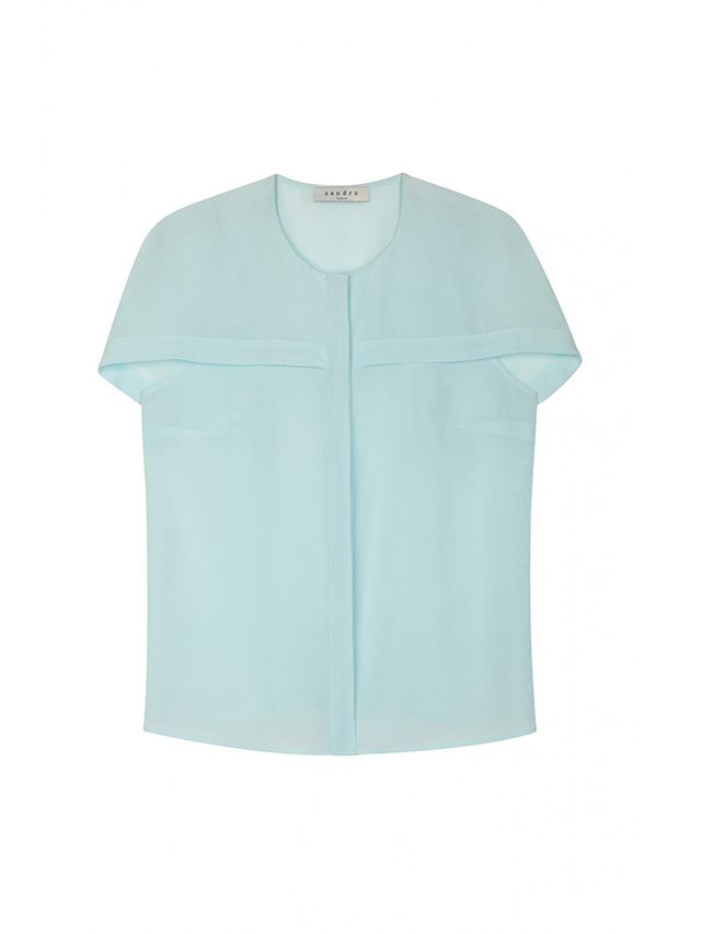 Sandro Cyrielle Draped Shoulder Shirt