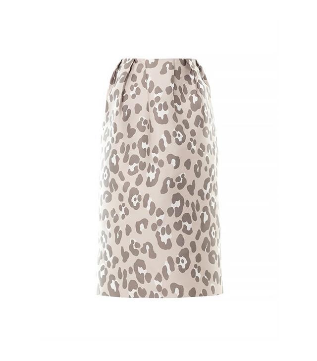 Adam Lippes Leopard Jacquard Midi Skirt