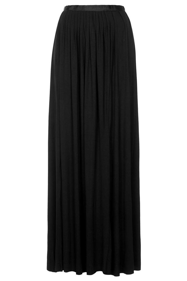 Topshop Jersey Pleated Maxi Skirt