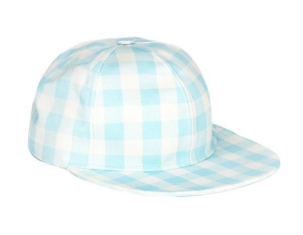 Au Jour Le Jour Blue Vichy Cotton Cap
