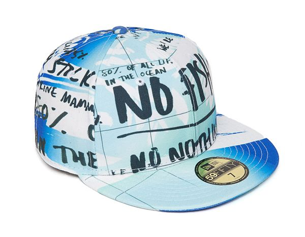 Kenzo Fish Foundation Print New Eat 59Fifty Hat