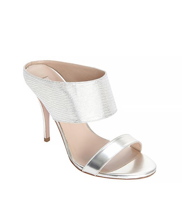 Pura Lopez Lizard Embossed Mirrored Heel Sandals