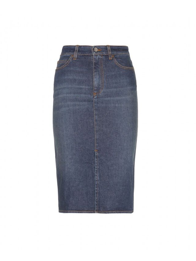 Victoria Beckham Denim Pencil Skirt