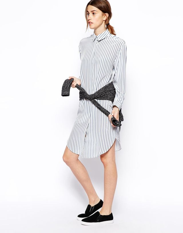 ASOS Striped Shirt Dress