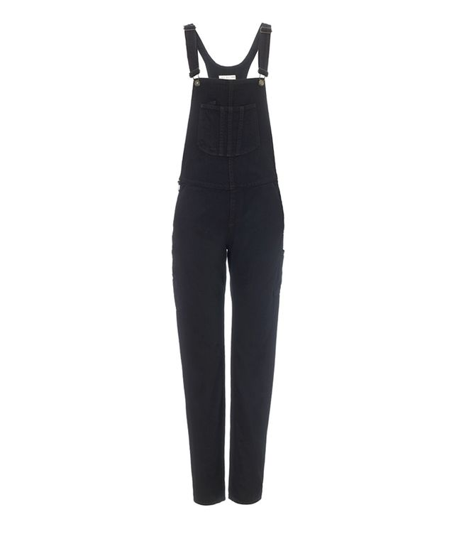 Rag & Bone Coal Stretch Denim Overalls