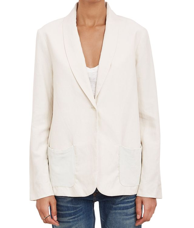 Raquel Allegra Leather Pockets Blazer