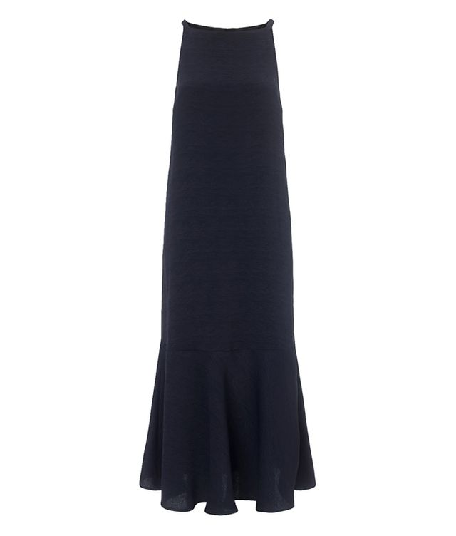 Samuji Navy Flounce Hem Bess Dress