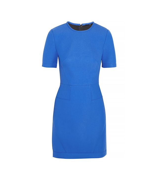 Tibi Scuba Jersey-Backed Twill Mini Dress