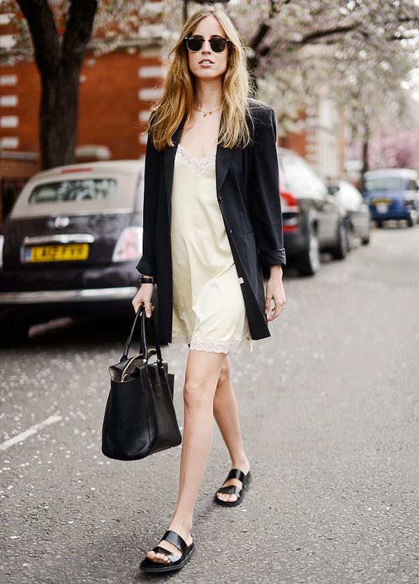 Blazer + Slip Dress