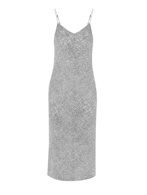 T by Alexander Wang Printed Stretch-Silk Georgette Slip Dress