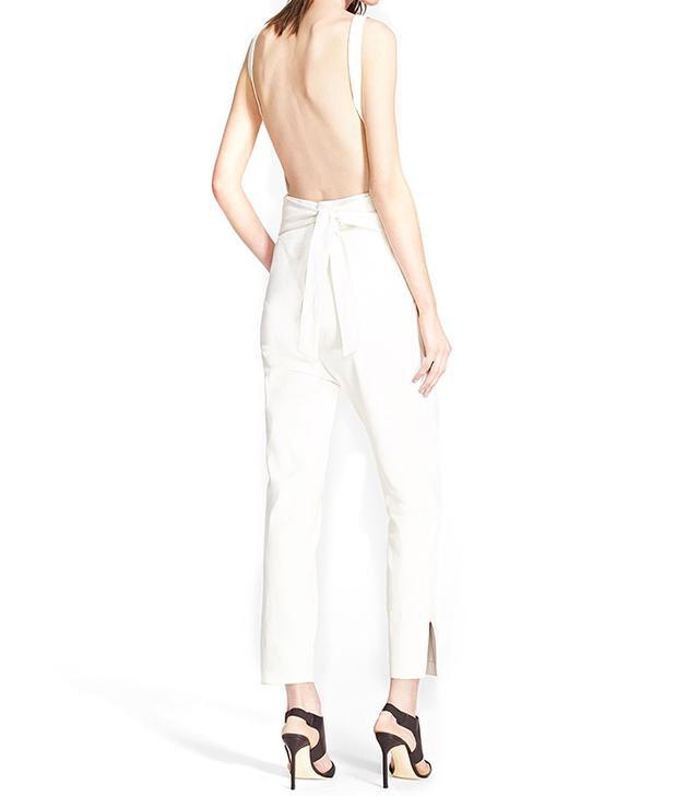 Tamara Mellon Sleeveless Leather Jumpsuit