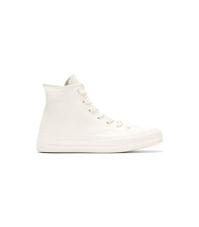 Converse x Maison Martin Margiela White & Blue Painted High-Top Sneakers