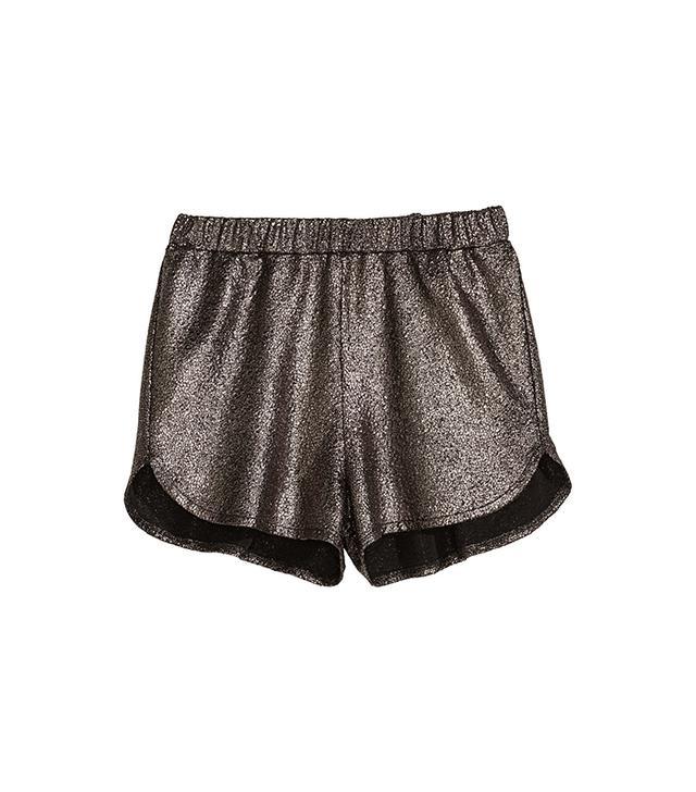 H&M Metallic-Finish Shorts