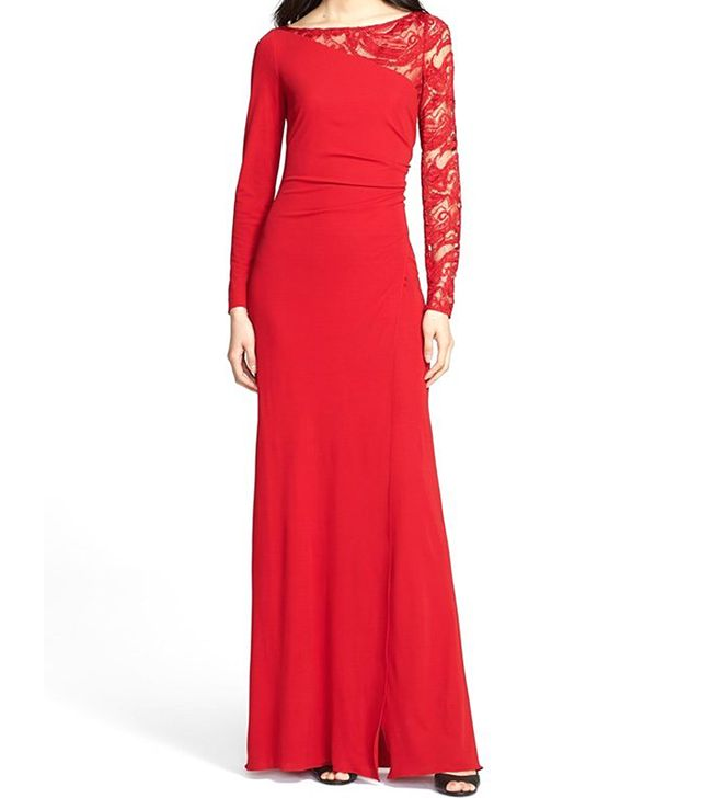 Emilio Pucci Lace Contrast Jersey Gown
