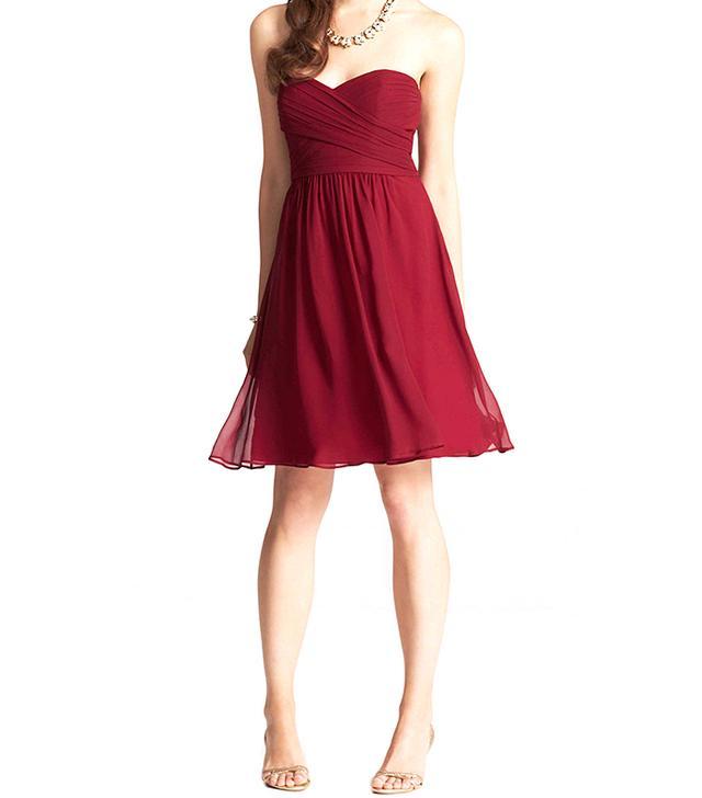 Ann Taylor Silk Georgette Strapless Dress