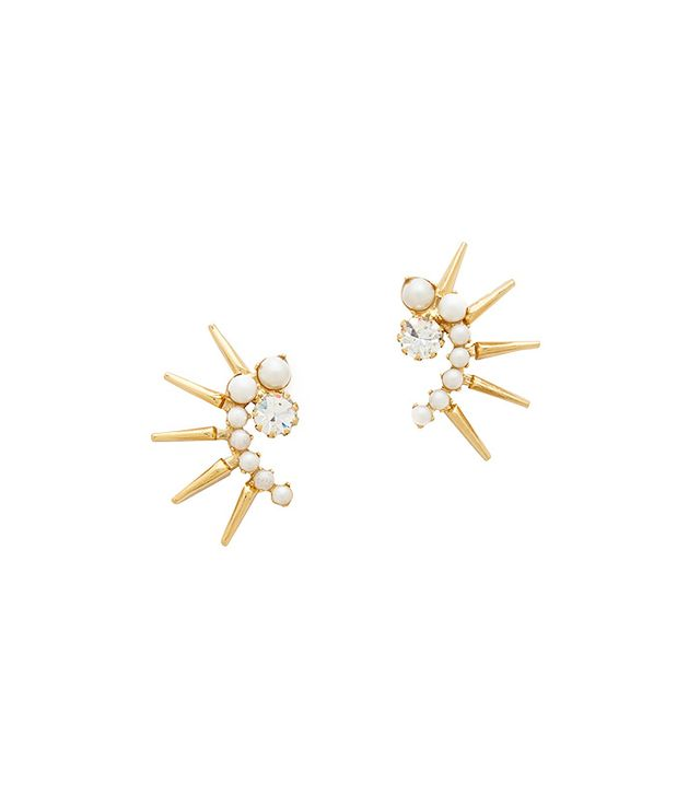 Elizabeth Cole Aeryn Earrings in Gold/Pearl