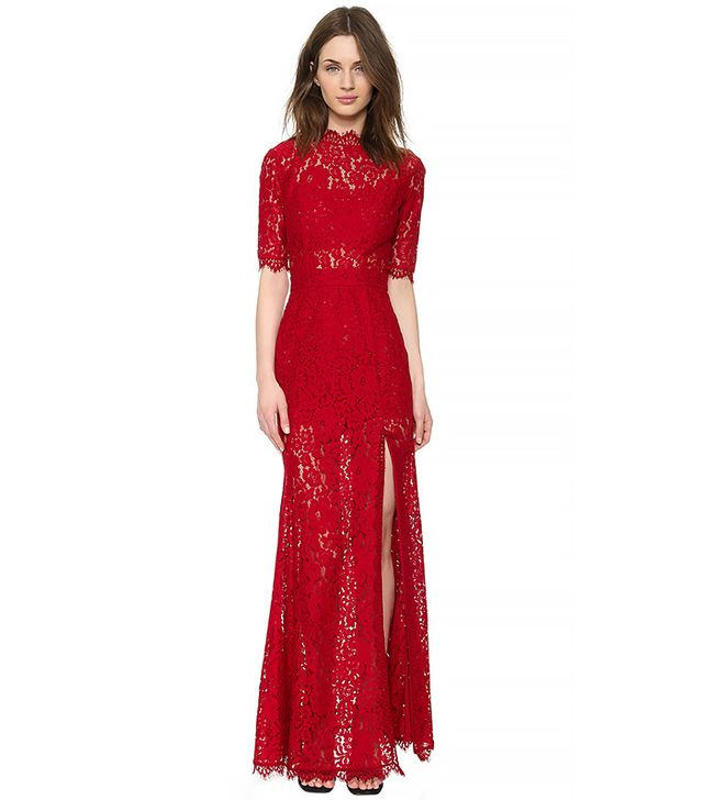 ONE by Femme D'armes Bailey Gown in Crimson