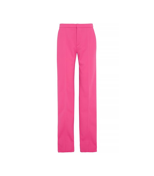 ATTO Scuba-Jersey Wide-Leg Pants in Pink