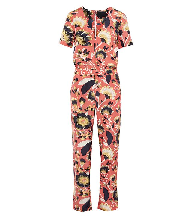 J. Crew Collection Spike Printed Silk Jumpsuit