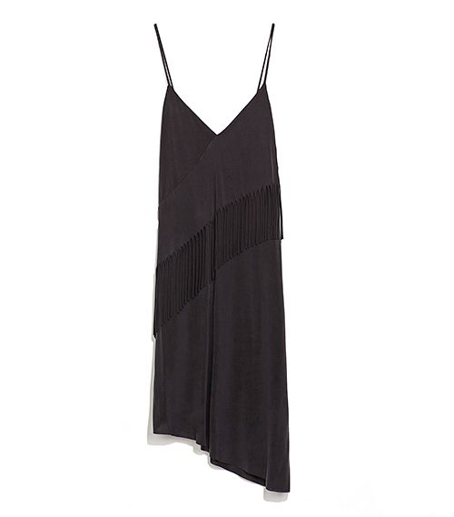 Zara Fringed Cupro Dress