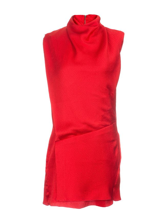 Helmut Lang Sleeveless Drape Mini Dress
