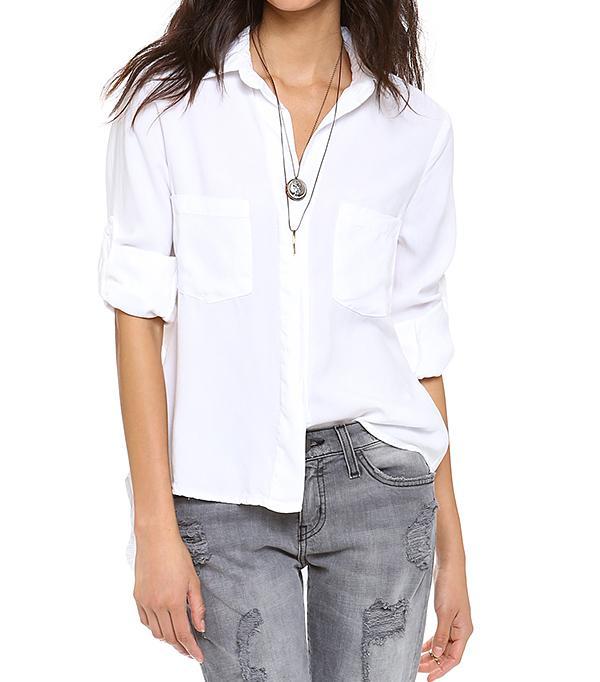 Bella Dahl Chambray Button Down Shirt