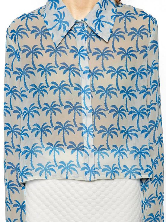Sister Jane Tropical Palm Print Shirt