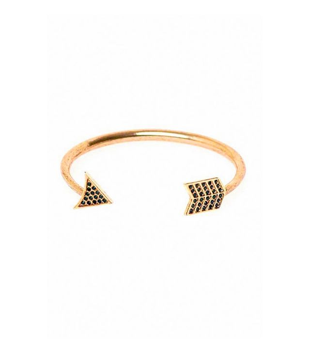 House Of Harlow 1960 Antiqued Arrow Bracelet With Pave