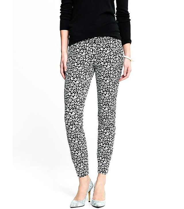 Banana Republic Sloan-Fit Leopard Print Slim Ankle Pants