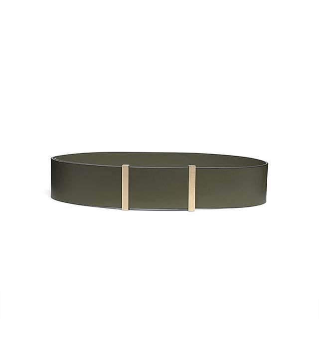 Kate Spade Saturday Two-Bar Wide Leather Belt