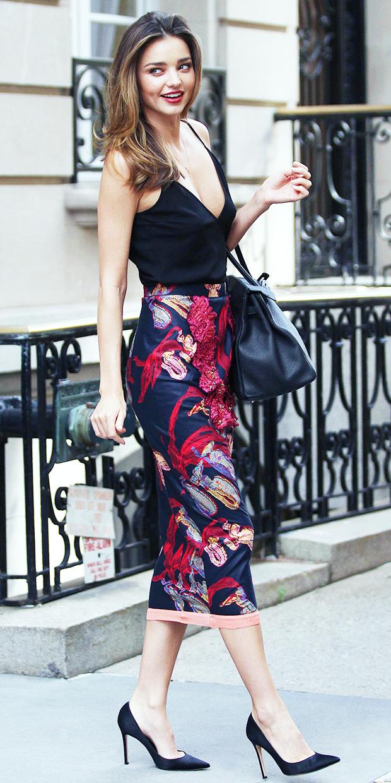 Miranda Kerr Wears The Prettiest Skirt We Ever Did See