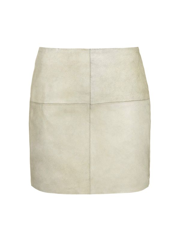 Topshop Cracked Leather Mini Skirt