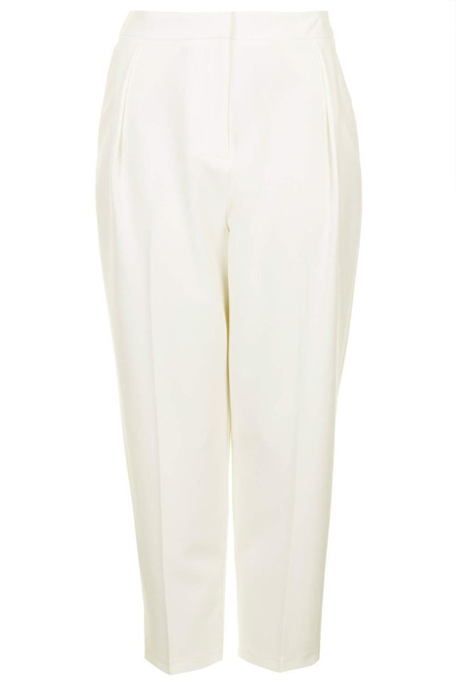 Topshop Cropped Peg Leg Trousers