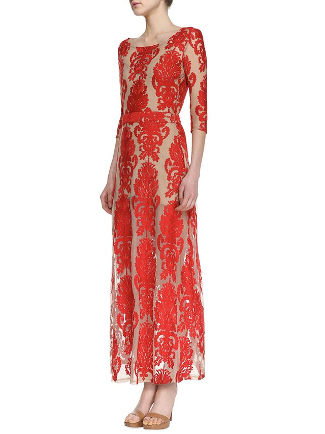 For Love & Lemons San Marcos Open-Back Lace Maxi Dress