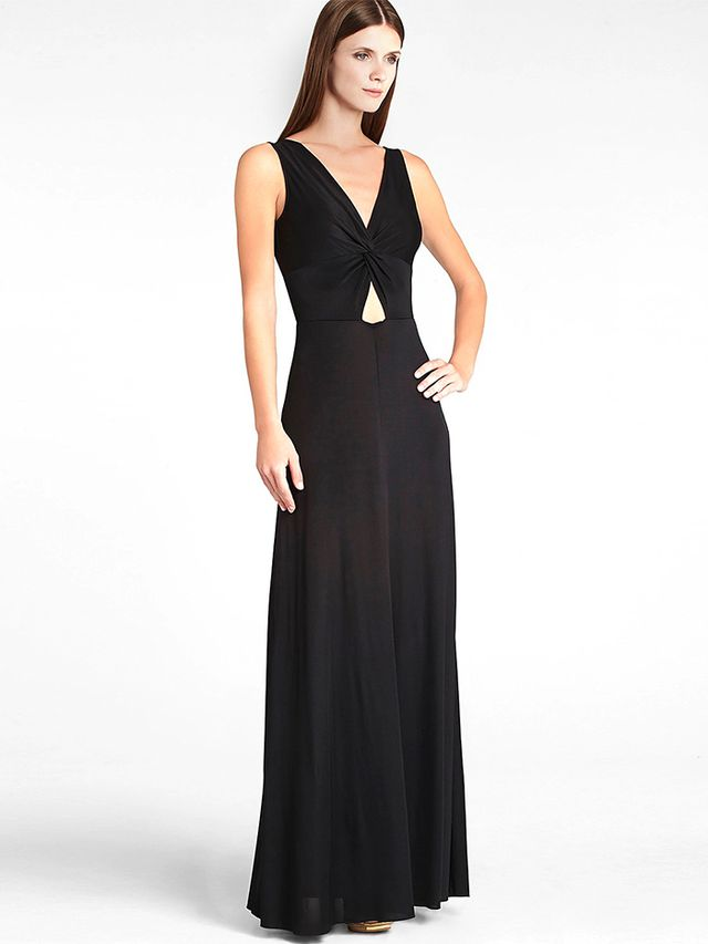 BCBGMAXAZRIA Missy Deep V Cutout Back Jersey Gown