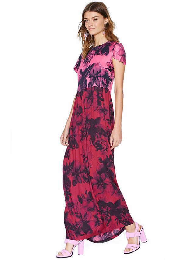 Shakuhachi Petal Press Maxi Dress