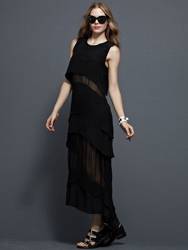 Jonathan Simkhai Sheer Paneled Dress