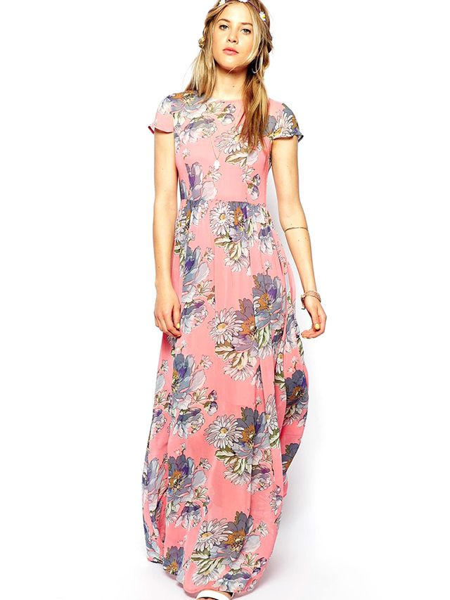 Asos Floral T-Shirt Maxi Dress