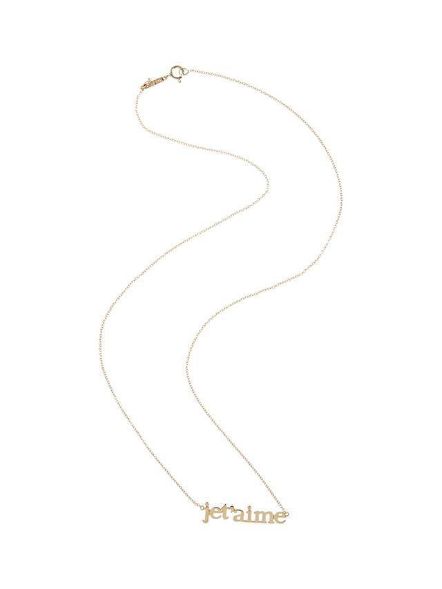 Jennifer Meyer Gold Je T'aime Pendant Necklace