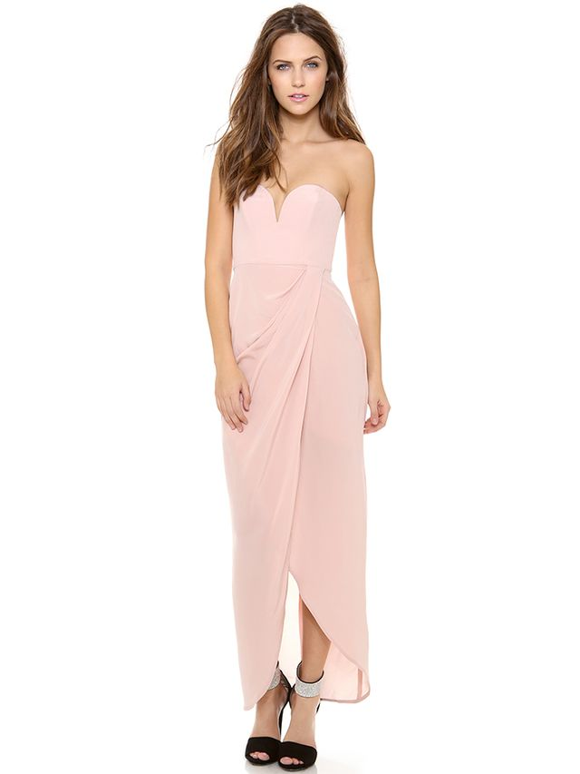Zimmermann Strapless Drape Maxi Dress, Available in Black