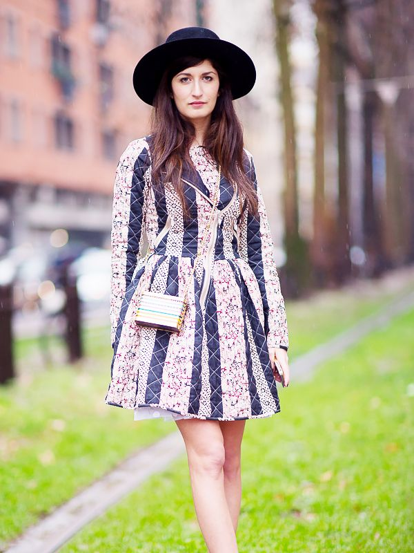 Carry it with: Wide-brimmed hat + mini-dress