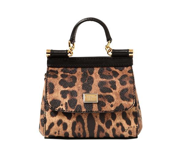 Dolce & Gabbana Mini Sicily Leather Shoulder Bag