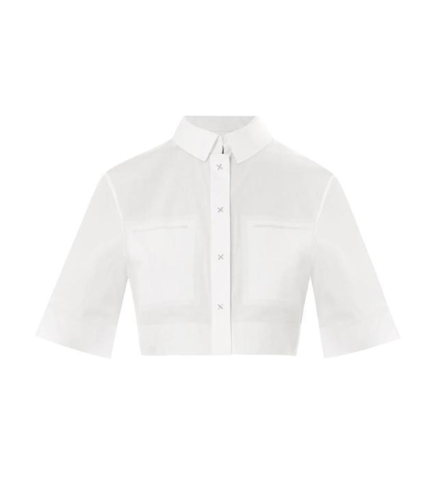 Alexander Wang Cropped Cotton-Poplin Shirt